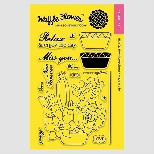 Waffle Flower POTTED Clear Stamp Set