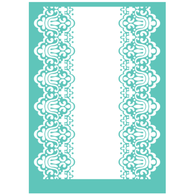 Cuttlebug SCALLOPED EDGE Embossing Folder & Border