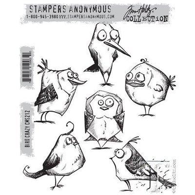 Tim Holtz BIRD CRAZY Cling Rubber Stamp