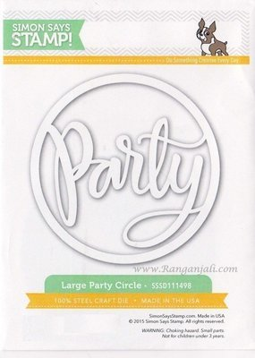 Simon Says Stamp LARGE PARTY CIRCLE Wafer Die