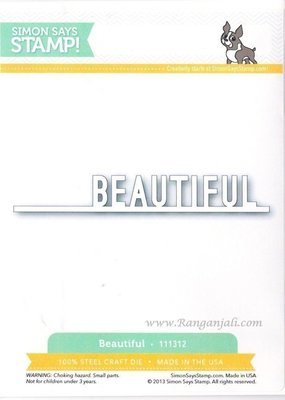 Simon Says Stamp BEAUTIFUL Craft Die