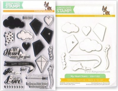 Simon Says Stamp LET'S GO FLY A KITE Coordinating Die & Stamp Set