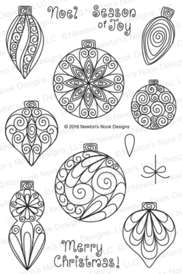 Newton's Nook BEAUTIFUL BAUBLES Clear Stamp Set