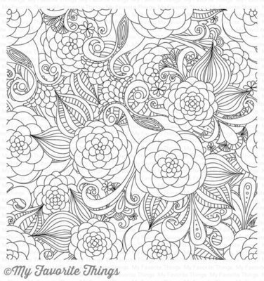 My Favorite Things FLORAL FANTASY Background Cling Stamp