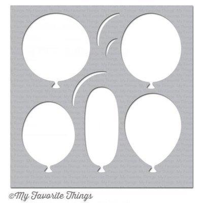 My Favorite Things BIG BALLOONS Stencil