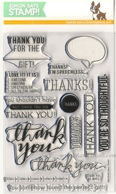 Simon Says Stamp MANY THANKS Clear Stamp Set