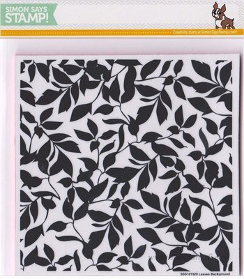 Simon Says Stamp LEAVES BACKGROUND Cling Stamp