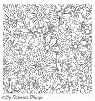 My Favorite Things BUNDLES OF BLOSSOMS Background Stamp