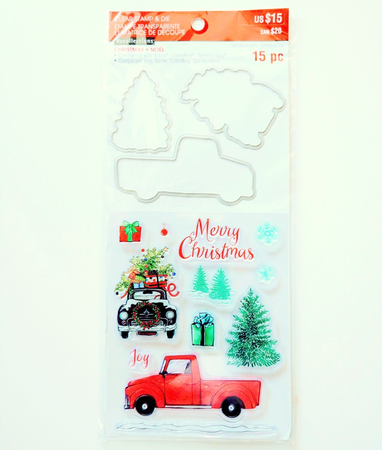 Recollections TRUCK Christmas Stamp & Die Set