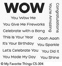 My Favorite Things YOU WOW ME Clear Stamp Set