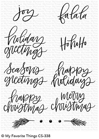 My Favorite Things HAND-LETTERED HOLIDAY GREETINGS Clear Stamp Set
