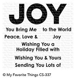 My Favorite Things FILLED WITH JOY Clear Stamp Set