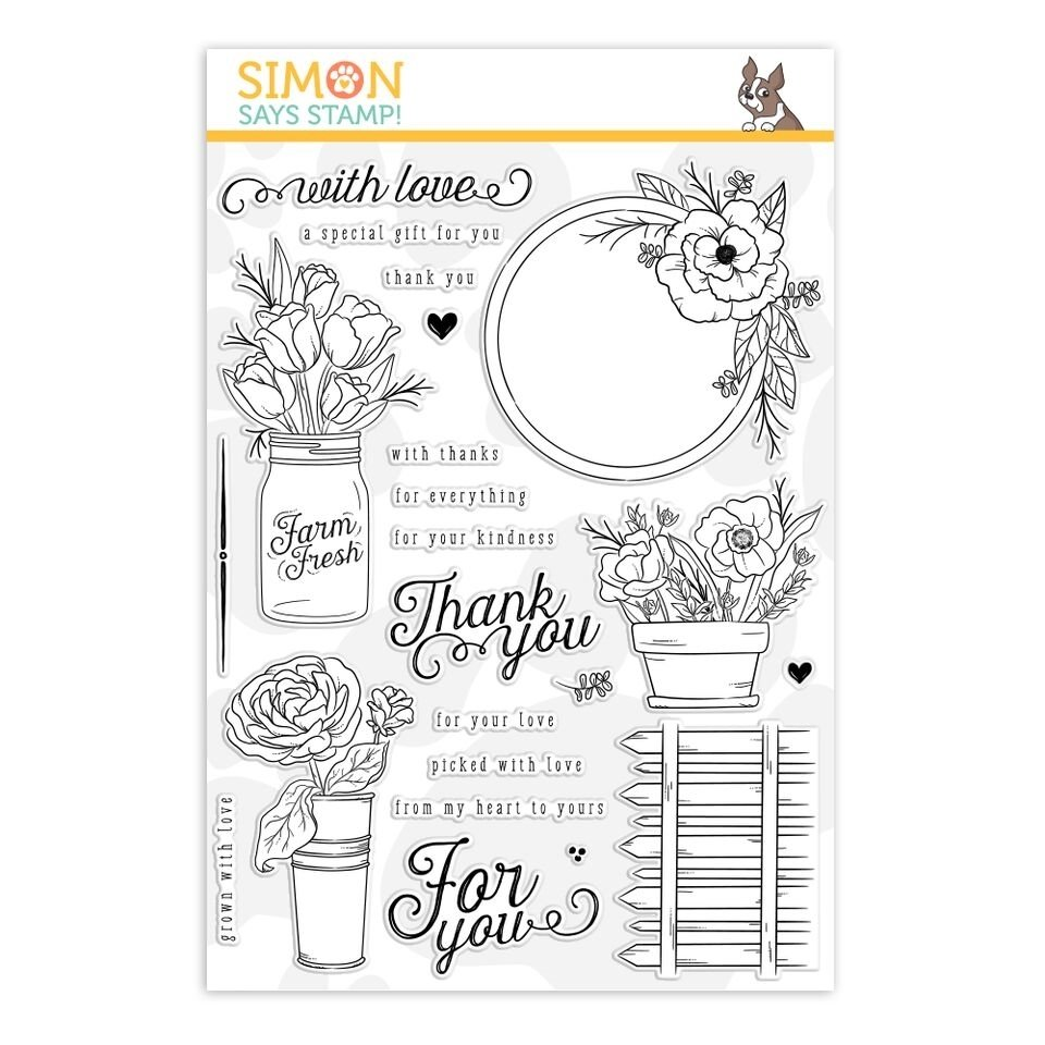 Simon Says Stamp MANDY'S FLOWERS Clear Stamp Set