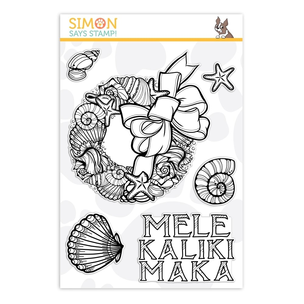 Simon Says Stamp MELE KALIKIMAKA Clear Stamp Set