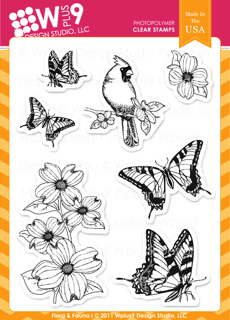 WPlus9 FLORA & FAUNA I Clear Stamp Set