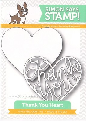 Simon Says Stamp THANK YOU HEART Craft Die