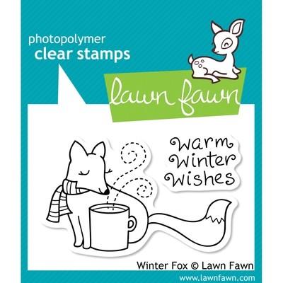 Lawn Fawn WARM WINTER FOX Clear Stamp Set