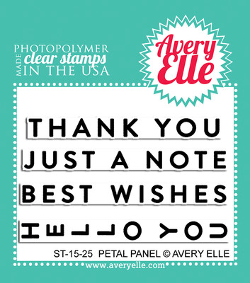 Avery Elle PETAL PANEL Clear Stamp Set