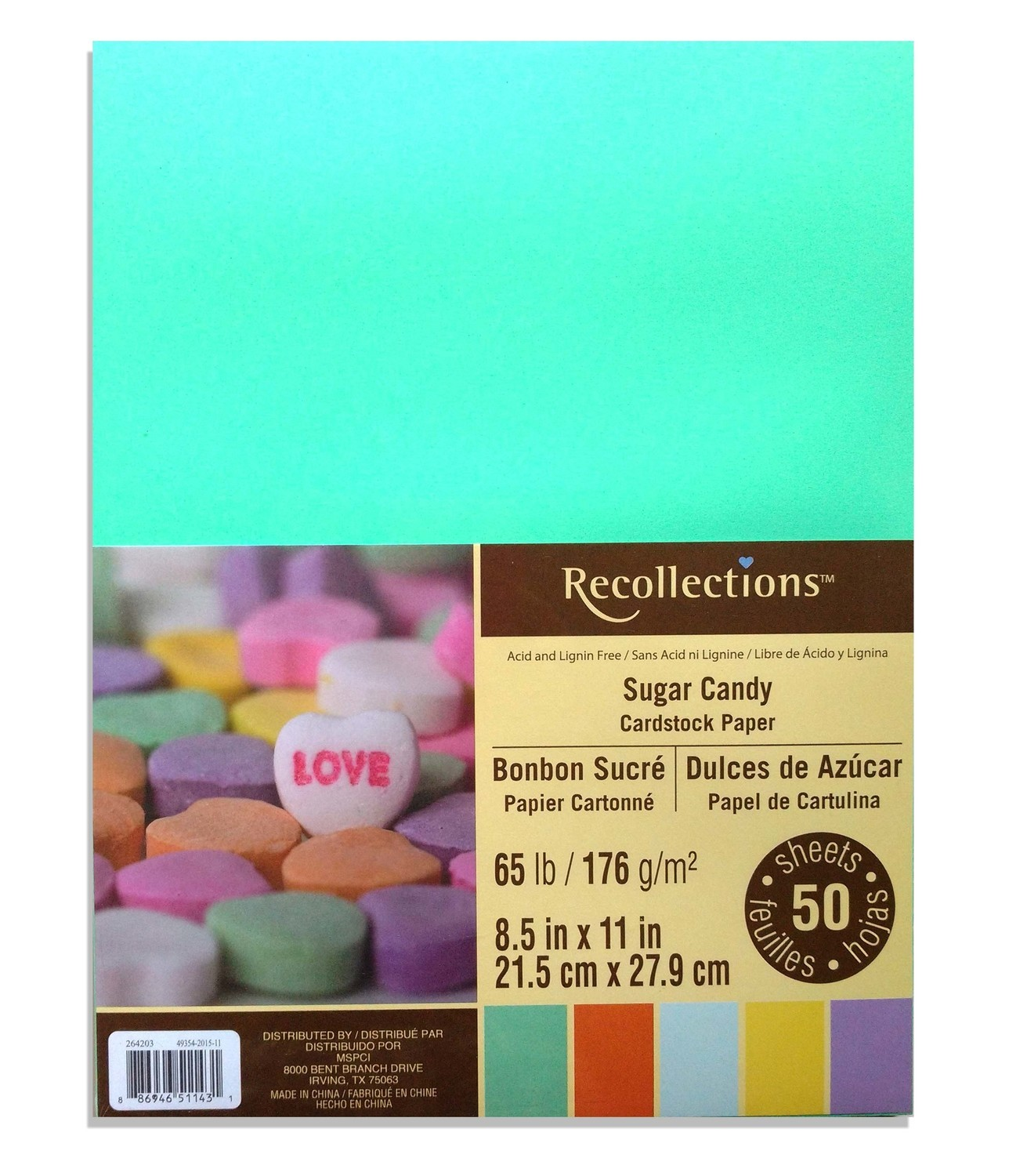 Recollections SUGAR CANDY Cardstock Paper 179gsm- 50/pk