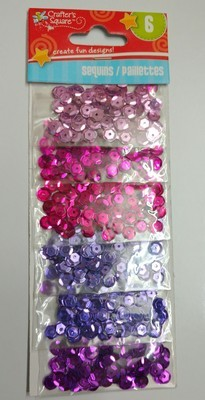 Crafter's Square PINK-PURPLE Sequins