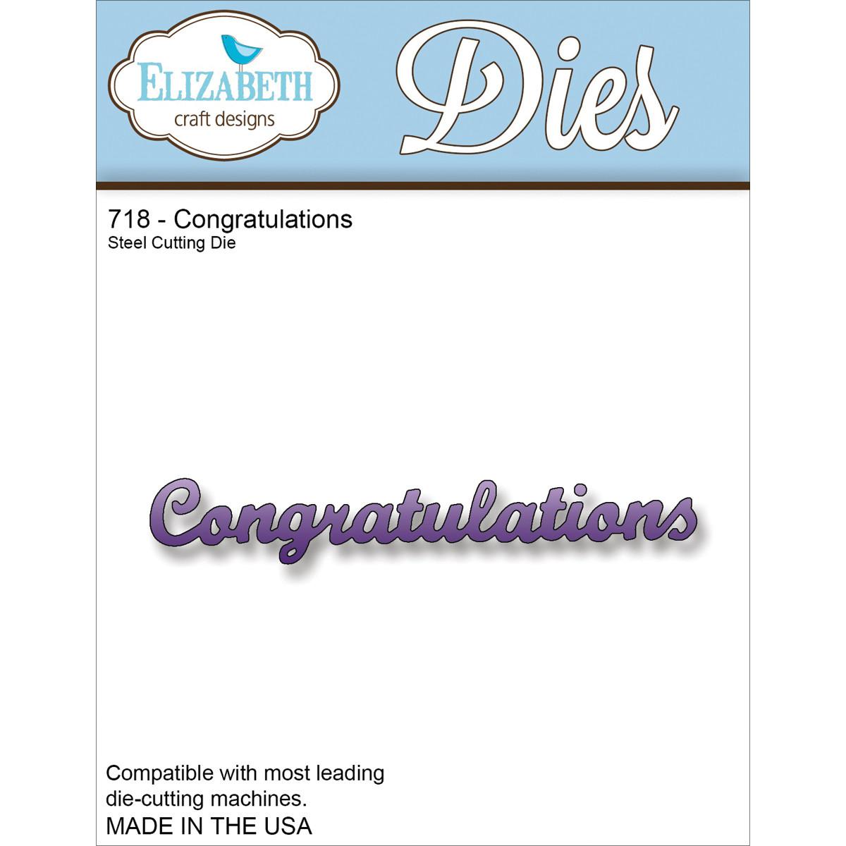 Elizabeth Craft Designs CONGRATULATIONS Die