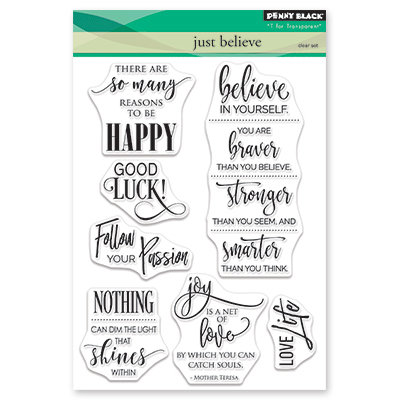 Penny Black JUST BELIEVE Clear Stamp Set