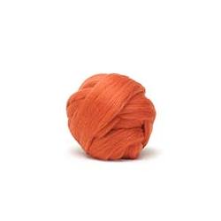 Orange - Dyed Corriedale Top
