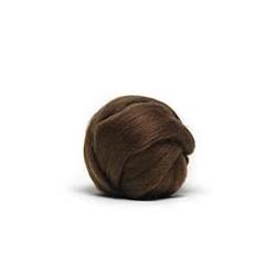 Brown - Dyed Corriedale Top