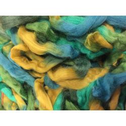Spring Meadow - Northern Lights Printed Wool Top