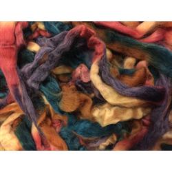 Lake Trout - Northern Lights Printed Wool Top