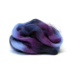 Grape Jelly - Northern Lights Printed Wool Top