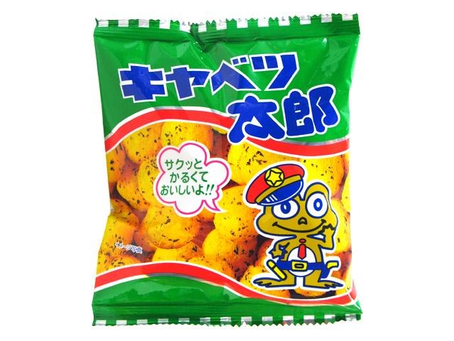 """Kado's Taro Series, Kyabetsu Taro, """"Cabbage Taro"""", Crispy Corn Snack, 14g"""