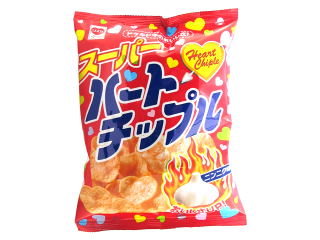 "Riska ""Heart Chiple"", Heart Shaped Rice Cracker, Garlic flavor, 63g"