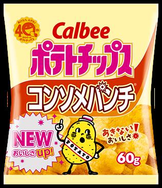 "Calbee ""Potato Chips, Consomme Flavor"", 60g"