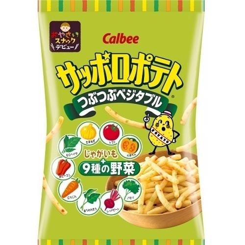 """Calbee """"Sapporo Potato, Vegetable flavor"""", 85g"""
