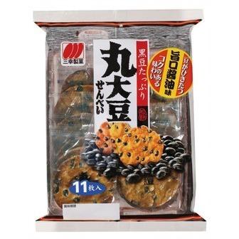 "Sanko ""Marudaizu Senbei"", Rice Cracker with Black Bean, 11pc in 1 bag, 167g"