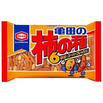 """Kameda """"Kakinotane"""" Spicy Rice cracker with peanuts, 6 packs in 1 bag, 210g"""