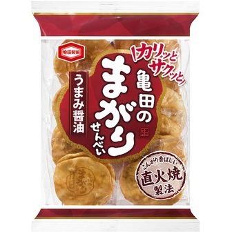 "Kameda ""Magari Senbei, Umami Soy Sauce Flavor"" 18 pc in one bag."