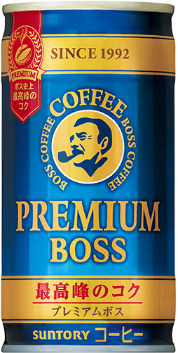 "Suntory ""Boss, Premium Boss"" Coffee, 185g"