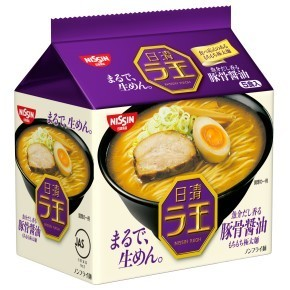 "Nissin ""Raoh,Tonkotsu & Soy Sauce Flavor"" 5 packs in 1 bag, 510g"