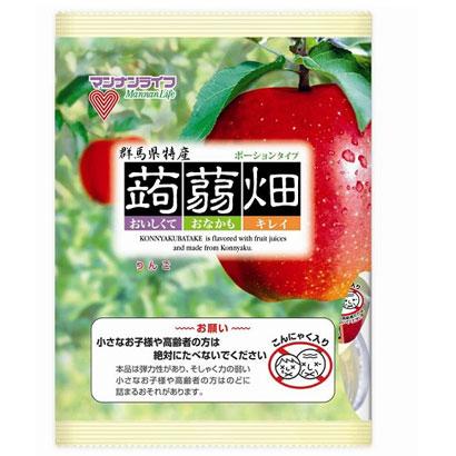 """Mannan Life """"Konnyaku Batake, Apple flavor"""" Konjac Fruits Jelly, 25g x 12 pc"""