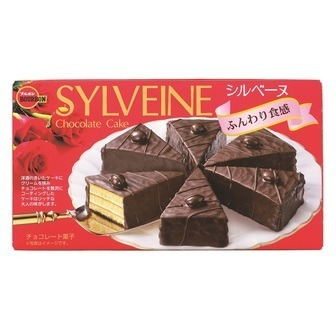 "Bourbon ""SYLVEINE"" Chocolate Cake, 6 Pieces in 1 Box"