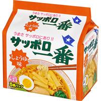 "Sanyo Syokuhin ""Sapporo Ichiban, Soy Sauce Flavor"" 5 packs in 1 bag, 500g"