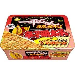 "Myojo Yakisoba ""Ippei-chan, Spicy Mentaiko Flavor"" 124g"