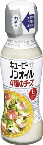 """Kewpie """"4 Kinds of Cheese, Non Oil Dressing"""" 150ml, 310g"""