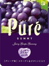 "Kanro ""Pure Gummy, Grape Flavor"" 56g"