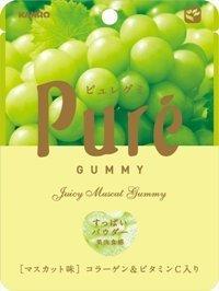 "Kanro ""Pure Gummy, Muscat Flavor"" 56g"