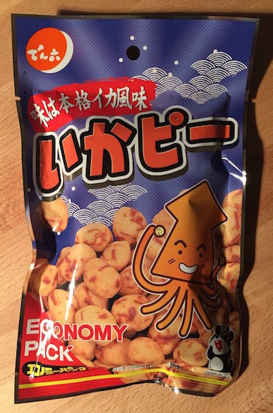 "Denroku ""Ika Pea"" Squid Snack Coating Pea Nuts, 75g"