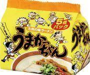 "House ""Umakacchan"", Tonkotsu Ramen, Pork Stock, 5 packs in 1 bag"