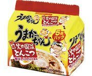 "House ""Umakacchan"" Kumamoto Stlye, Tonkotsu & Garlic, 5 packs in 1 bag"